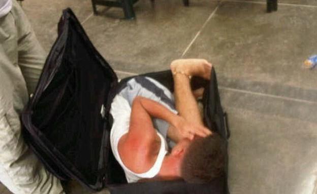 ניסה לברוח מהכלא במזוודה