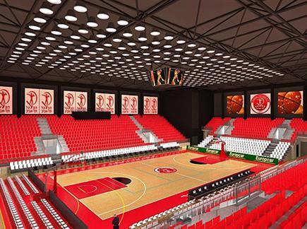 כך זה ייראה. הדמייה של אולם הספורט החדש (צילום: ספורט 5)