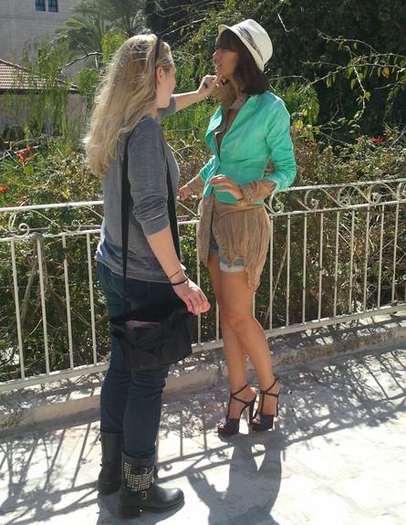 מלי לוי עם פוני חדש, מרץ 2013 (צילום: שי יחזקאל)