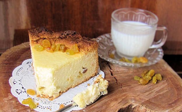 עוגת גבינה וסולת (צילום: דליה מאיר, אוכל טוב)