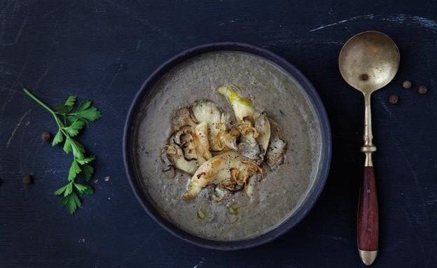 מרק תפוחי אדמה ופטריות (צילום: דן לב, הפסח שלנו)