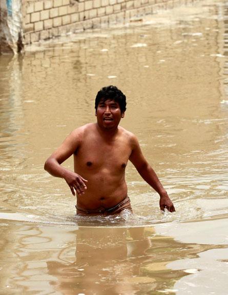 שטפונות בפרו (צילום: חדשות 2)