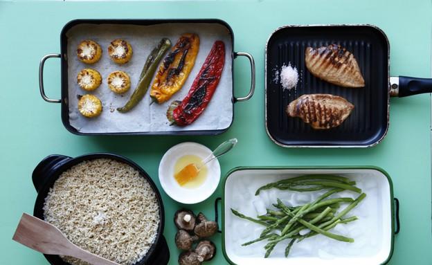 המרכיבים (צילום: אפיק גבאי, פשוט לבשל בריא, הוצאת כלטקסט)