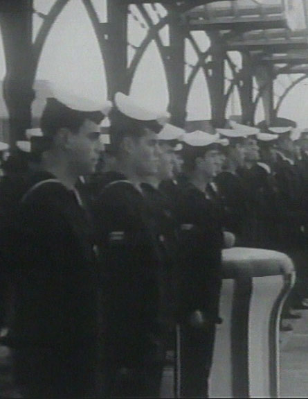 אנשי הצוות של הצוללת, 1968 (צילום: ארכיון המדינה)