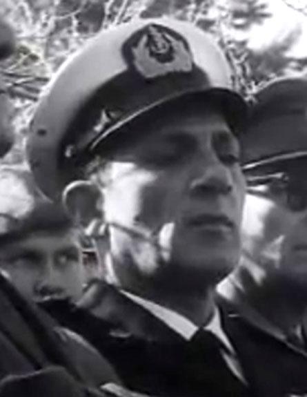 האלוף אראל בטקס לנעדרי הצוללת, ארכיון (צילום: ארכיון המדינה)