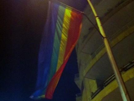 דגל הגאווה ירושלים (צילום: דני זאק)