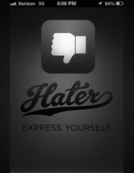 תשנאו כאוות נפשכם (צילום: hater)