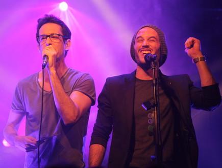 נתן גושן ועברי לידר בהשקת האלבום השני של גושן (צילום: ענבל צח)