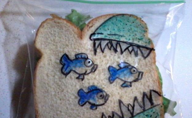 כריכים מאויירים - דגים (צילום: דיויד לפרייר, dailymail.co.uk)