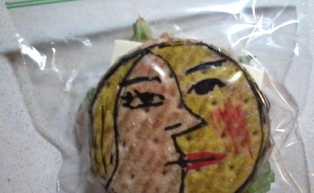 כריכים מאויירים - פרצופים (צילום: דיויד לפרייר, dailymail.co.uk)