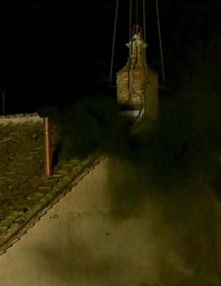 שחור בעיניים, הערב בוותיקן (צילום: חדשות 2)