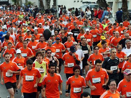 מרתון תל אביב. יהיה חם (ניר לנדאו, וואלה!) (צילום: ספורט 5)