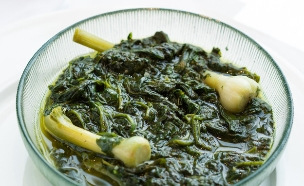 פסח, חיים כהן במטבח - תבשיל ירוק (צילום: בני גם זו לטובה, אוכל טוב)