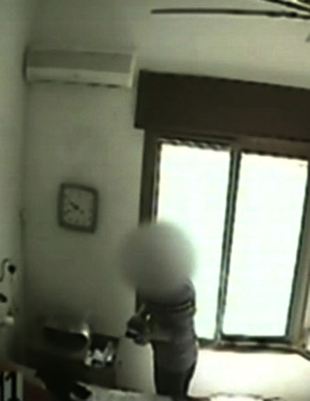 """צפו: העוזרת תועדה """"מנקה"""" את הבית (צילום: חדשות 2)"""
