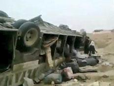 המשאית שהתהפכה (צילום: alfajertv)