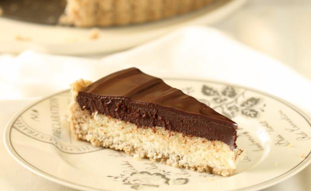 טארט שוקולד וקוקוס לפסח (צילום: חן שוקרון, אוכל טוב)