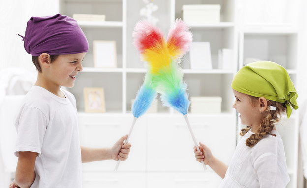 הכנת הבית, ילדים מנקים (צילום: אימג'בנק / Thinkstock)