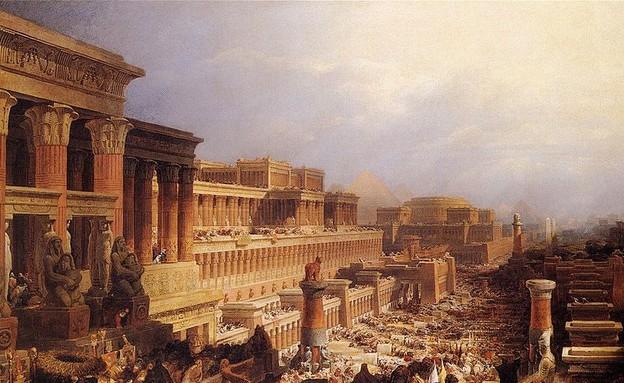 יציאת מצרים - ציור מ-1829 (צילום: wikipedia.org, ויקיפדיה)