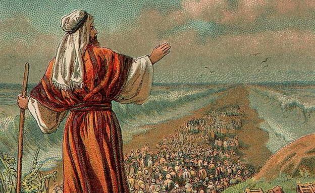 ציור מ-1907 המתאר את יציאת מצרים (צילום: wikipedia.org)