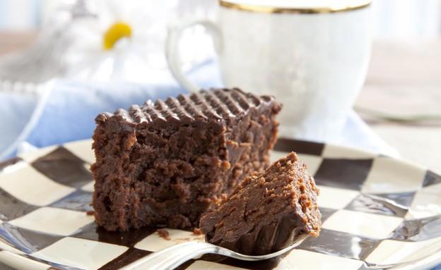 עוגת פאדג' שוקולד, מיקי שמו (צילום: דן לב,  יחסי ציבור )
