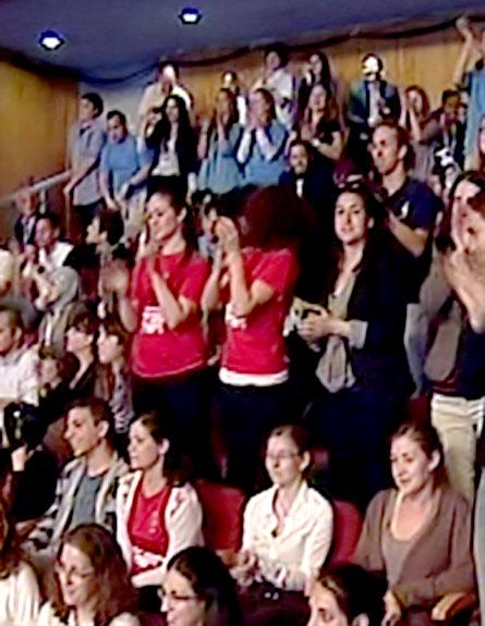 צפו: הקהל קם על רגליו לכבוד אובמה. י-ם, היום (צילום: חדשות 2)