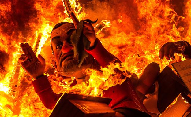 בובה נשרפת, פסטיבל ולנסיה (צילום: David Ramos, GettyImages IL)