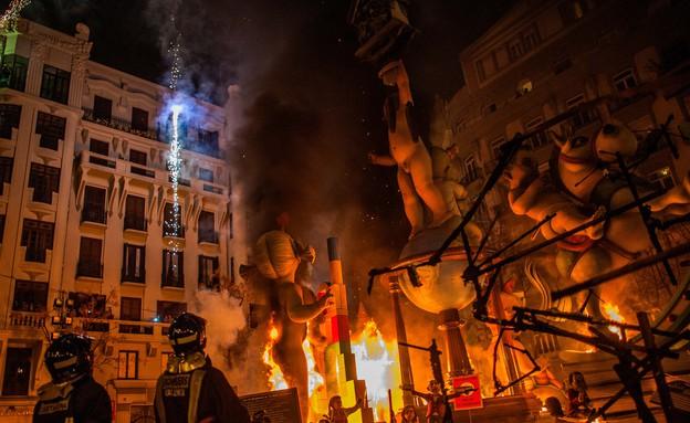 שריפה, פסטיבל ולנסיה (צילום: David Ramos, GettyImages IL)