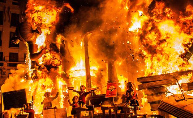 בובות נשרפות, פסטיבל ולנסיה (צילום: David Ramos, GettyImages IL)