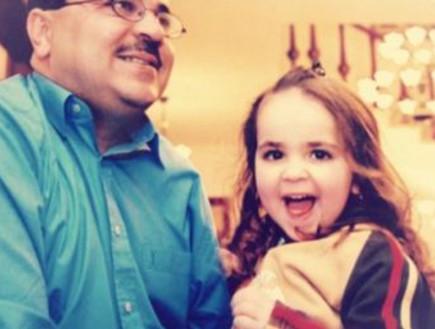 נטלי הקטנה עם אבא אחמד טיבי
