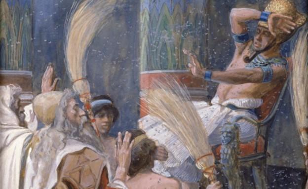 עשר המכות - ציור של מכת ארבה מהמאה ה-19 (צילום: ויקיפדיה)
