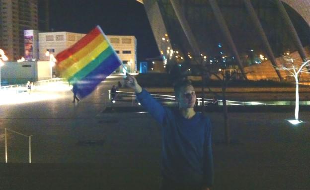 יעקב גיליוב מצעד הגאווה באשדוד (צילום: דני זאק)