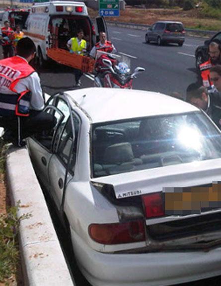 תאונת דרכים (צילום: חדשות 2)