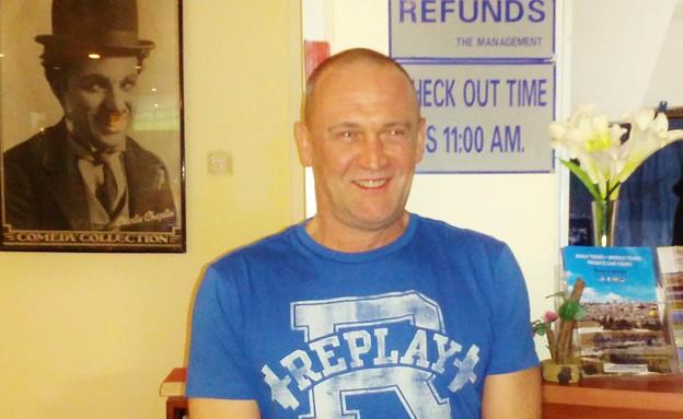 אנדרו רובינסון, תייר מאנגליה (צילום: לימור בן-רומנו)