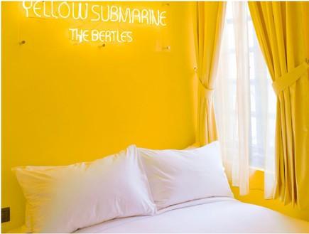 מלון סינגפור, חדר צהוב (צילום: www.wanderlusthotel.com)