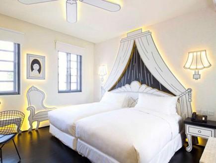 מלון סינגפור, חדר שינה (צילום: www.wanderlusthotel.com)