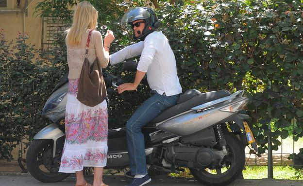 גיא גיאור ודפנה דה גרוט ביחד, מרץ 2013 (צילום: רועי קסטרו)