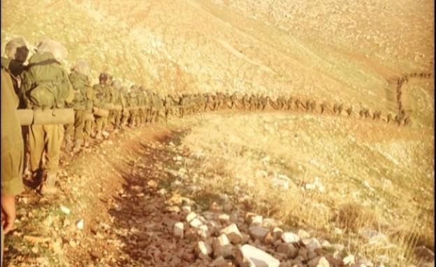 מסע של חטיבת הצנחנים (צילום: שניר אטיאס)