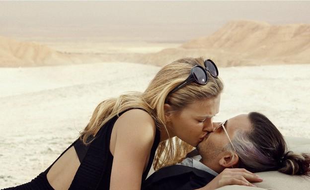 בר רפאלי וציון ברוך הנשיקה (צילום: אייל נבו)