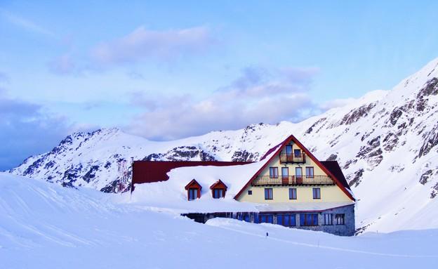 בקתת העץ במלון הקרח, רומניה, סער פלס (צילום: סער פלס)