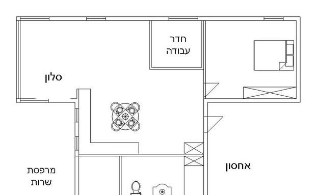 דירה תל אביב, תכנית אחרי (צילום: סיון אסקיו)