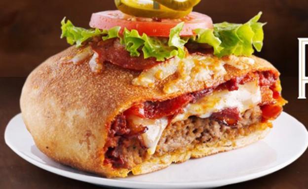 פיצה-בורגר (צילום: צילום מסך מהאתר www.foodbeast.com)