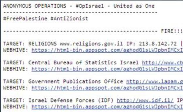 אתרי ממשלה שהותקפו
