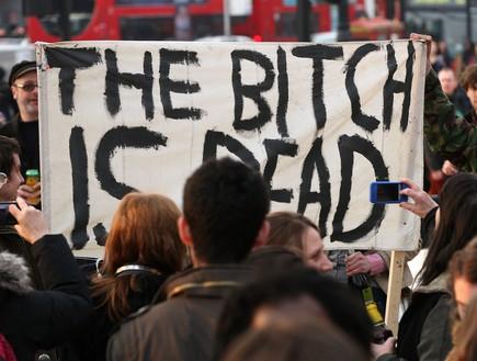 בלונדון חוגגים את מותה של תאצ'ר