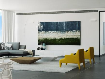נגיעות של צבע בסלון ברשת IDdesign