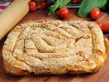 צ'וקור פילו במילוי גבינה ותרד טרי