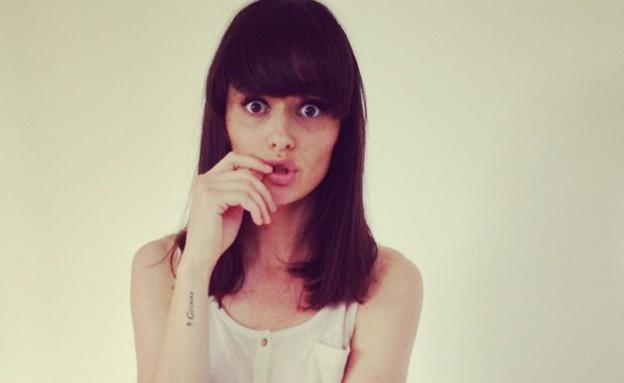 אניה על הסט של StyleRiver (צילום: instagram)