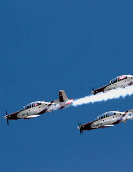 הביטו לשמיים, מטס חיל האוויר (צילום: רויטרס)