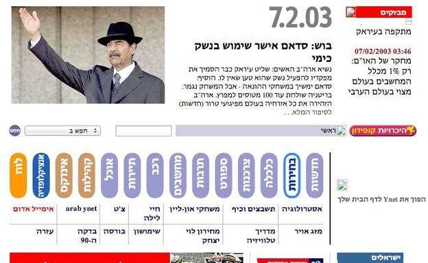 Ynet בימיו הראשונים