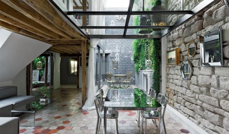 דירה בפריז, פינת אוכל (צילום: ateliersmichaelherrman)