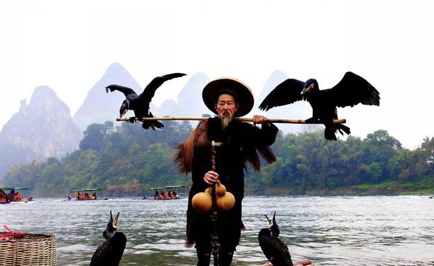 דייגים סינים (צילום: dailymail.co.uk)